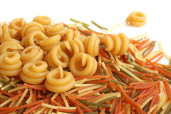 Colored Italian pasta Royalty Free Stock Photos