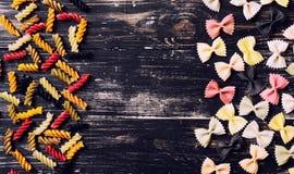 Colored Italian pasta Stock Photography