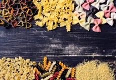 Colored Italian pasta Stock Photos