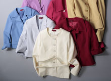 Colored jackets Royalty Free Stock Photo