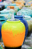 Colored jars Royalty Free Stock Images