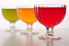 Colored jelly in a bowl Stock Photo