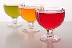 Colored jelly in a bowl Royalty Free Stock Image