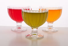 Colored jelly in a bowl Stock Image