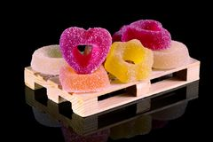 Colored jelly candies royalty free stock photography