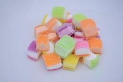 Colored Jelly Sweets. Colored Jelly Sweets for a fruit dessert Stock Image