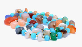 Colored jewelery royalty free stock photo