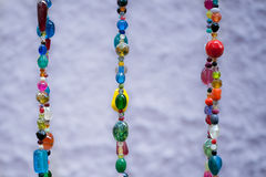 Colored jewellery pearls Royalty Free Stock Images