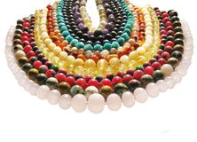Colored jewelry Stock Images