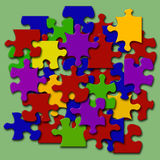 Colored Jigsaw Pieces Stock Image