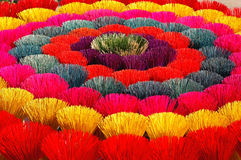Free Colored Joss Sticks In Vietnam Stock Image - 13097041