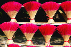 Colored joss sticks in Vietnam royalty free stock photography
