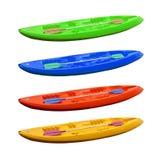 Colored kayaks Stock Photo