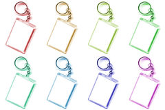 Colored keychain. As a frame with space for text or illustrations Royalty Free Stock Photo