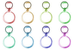 Colored keychain Stock Photo