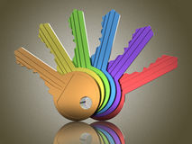Colored keys Stock Images