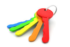 Colored keys Royalty Free Stock Photos