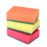 Colored kitchen sponges Royalty Free Stock Photo