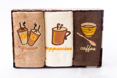 Colored kitchen towels Stock Photography