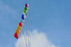 Colored kite, happy composition Royalty Free Stock Photo