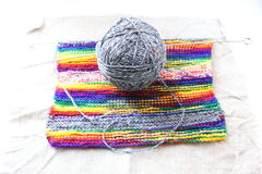 Colored knitted fabric Royalty Free Stock Photos