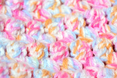 Colored knitting as texture Royalty Free Stock Photos