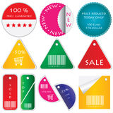 Colored labels Royalty Free Stock Photography
