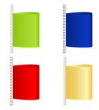 Colored labels Royalty Free Stock Photos