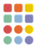 Colored labels Stock Images
