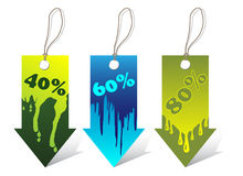 Colored labels Royalty Free Stock Photo