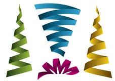 Colored labels. Four kind of colored labels illustration stock illustration