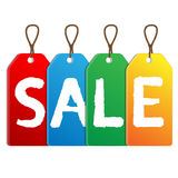 Colored labels sales Stock Image