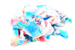 Colored ladies scarf Royalty Free Stock Photos
