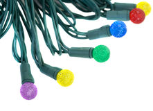Colored Lamps of Electric garland Stock Photography