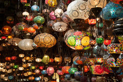 Colored lamps Royalty Free Stock Photography