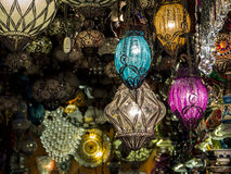 Colored lamps Royalty Free Stock Images