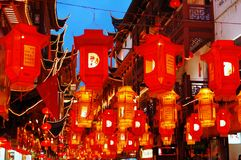 Colored lantern. On street's colored lantern in the Chinese new year Royalty Free Stock Photo