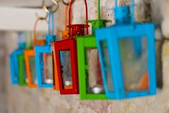 Colored lanterns Royalty Free Stock Photo