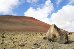 Colored Lanzarote Hill and Rock 1 Royalty Free Stock Images