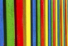 Colored laths Royalty Free Stock Photography