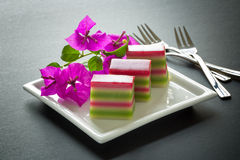 Colored Layer cakes, Malaysia Stock Images