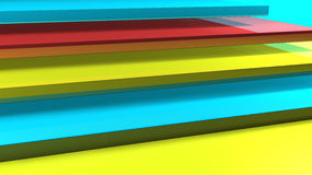 Colored Layers Royalty Free Stock Photos