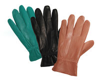 Colored leather gloves Royalty Free Stock Image