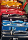 Colored leather handbags Royalty Free Stock Photo