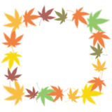 Colored leaves frame Stock Photos