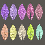 Colored leaves set Stock Image
