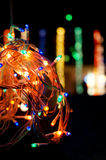 Colored LEDs for decoration. String of colored LEDs for decoration, used on the occasion of Diwali or christmas Stock Photos