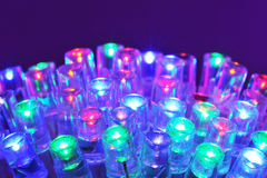 Colored LEDs Royalty Free Stock Photos