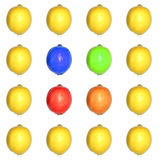 Colored Lemon Grid Royalty Free Stock Images