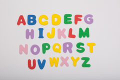 Colored letter alphabet Stock Photography